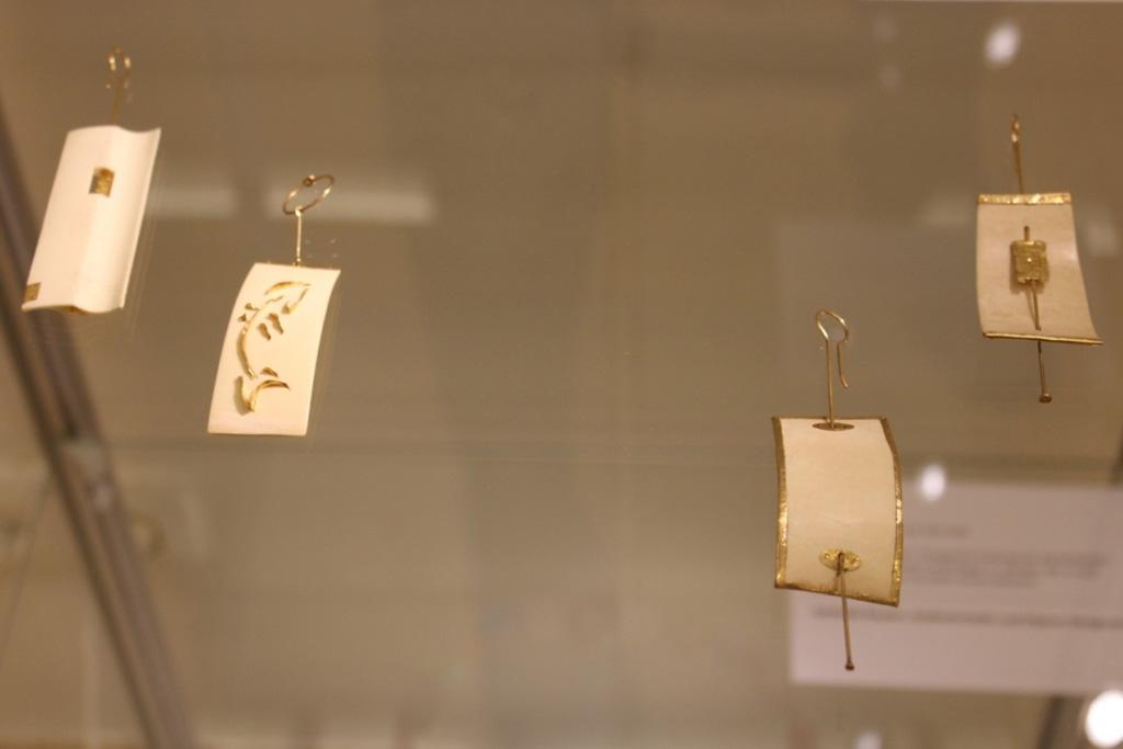 Ohrhänger von Peter Boysen, Sonderausstellung 2013: anorganisch