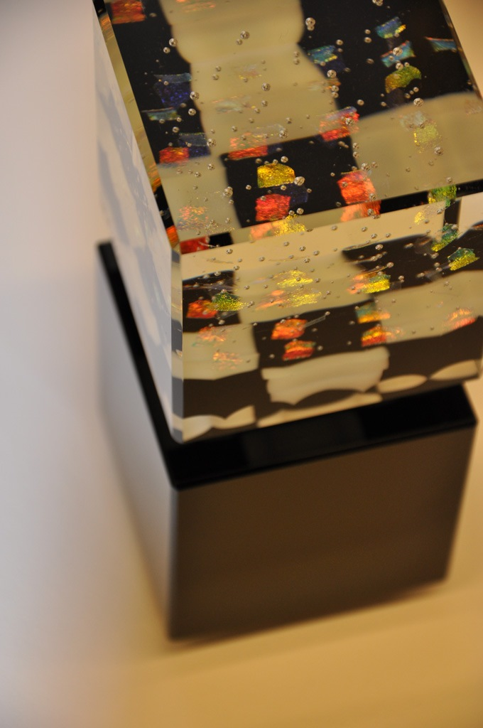 Glasobjekt von Bernd Lichtenstein, Sonderausstellung 2014: Leichtsinn