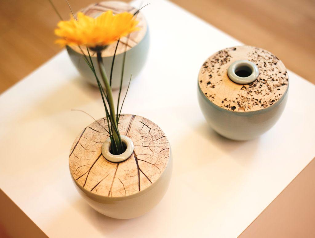 Serie aus 3 Vasen von Arndt Böhm, Sonderausstellung 2017 ober.flächlich