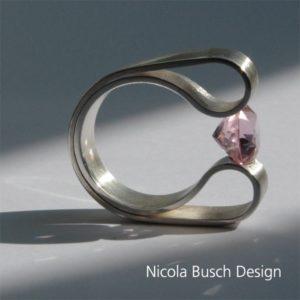 Bogenring Silber von Nicola Busch