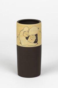 Vase aus Ton von Silke Freiwald