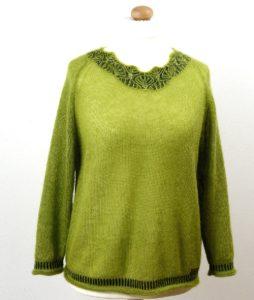 grüner Pullover von Anne Heister