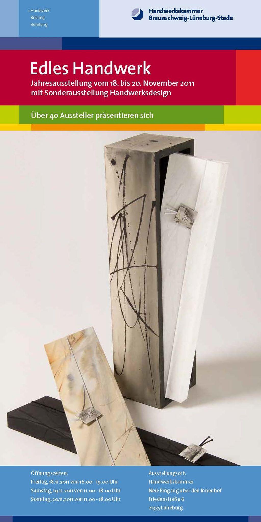 Sonderausstellung 2012 Handwerksdesign - Flyer Edles Handwerk Front