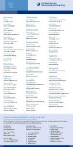 Sonderausstellung 2012 Kontraste - Flyer Edles Handwerk mit Ausstellern