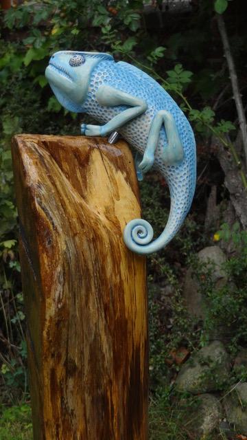 Gecko-Figur von Claudia Friedrichs