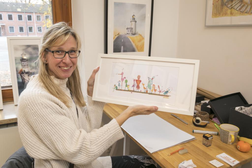 Zeichnung von Katja Priebe