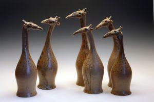 Giraffen-Figuren von Fé Fayence