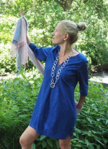 Foto blaues Kleid