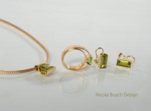 Grünes Schmuckset von Nicola Busch