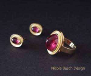Rosa Turmalin Schmuckset von Nicola Busch