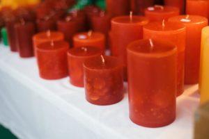 rote Kerzen von Anne Radtke
